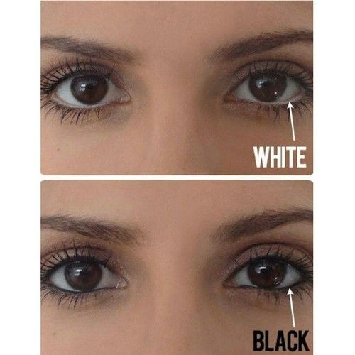 how to use white eyeliner to make eyes look bigger