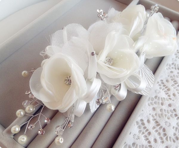 Exquisite Bridale Hair Accessory Sidepiece Flower Sweet