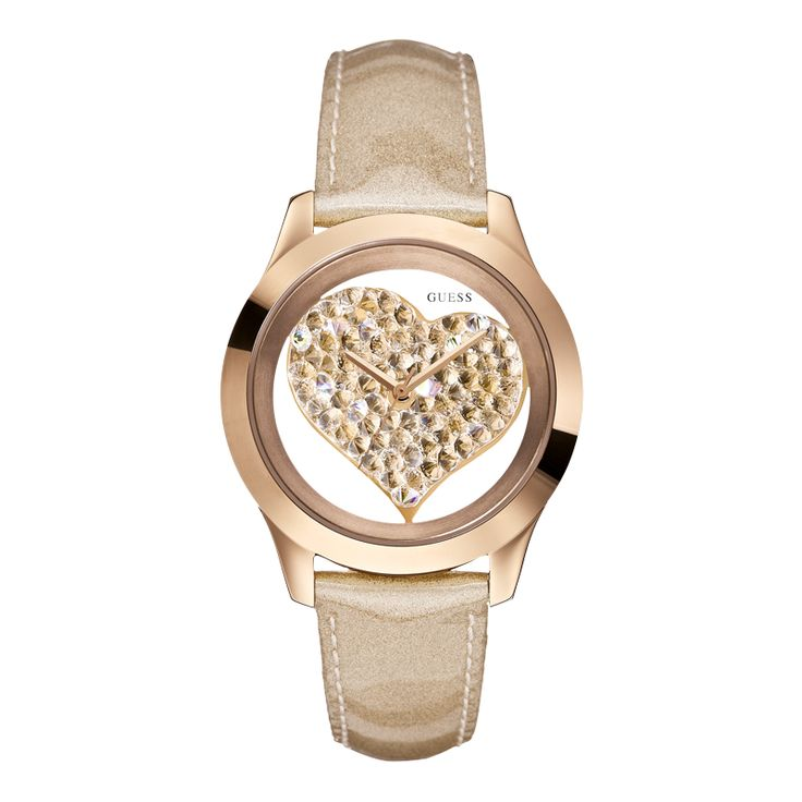 W0113L3   GUESS Rose Tone Gold Watches. Trendy Show off your unique and individual approach to fashion with timepieces that are ready to make a statement.