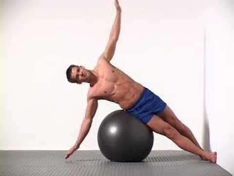 4 Swiss Ball Side Crunch