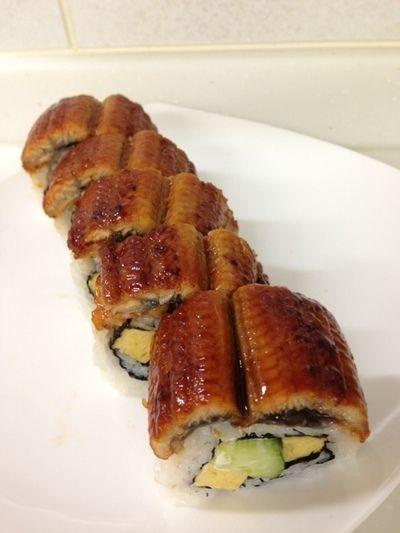 土用の丑 うなぎの姿寿司 うなぎロール寿司\(^o^)/ カリフォルニアロール(^^♪
