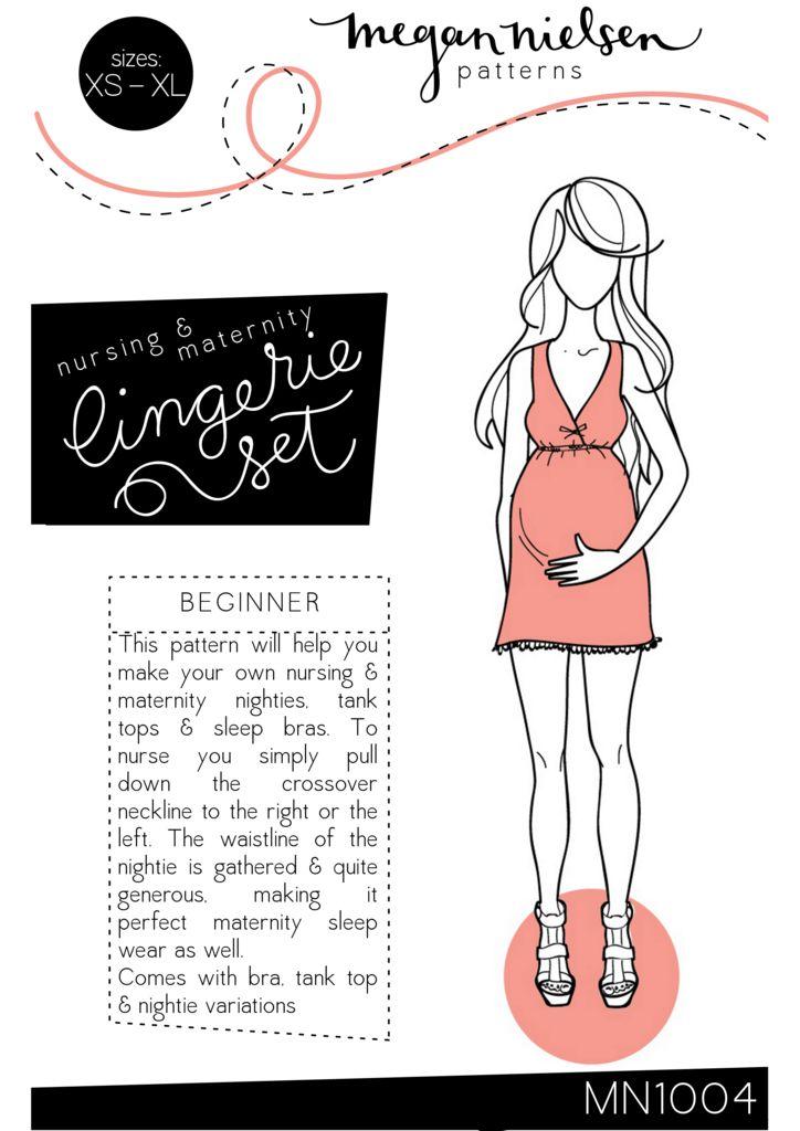 Megan Nielsen Nursing & Maternity lingerie set sewing pattern // http://megannielsen.com/collections/sewing-patterns/products/nursing-maternity-lingerie-set-sewing-pattern