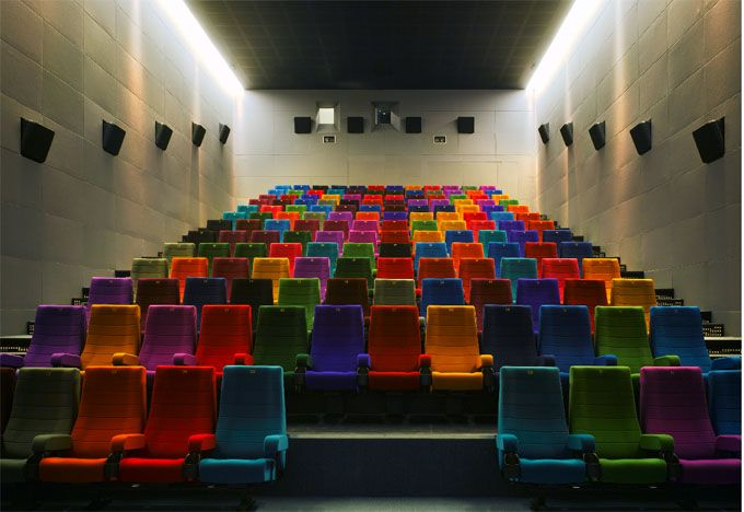 The Lighthouse Cinema, Dublin, Ireland. Who said movie theater seats have to be red?