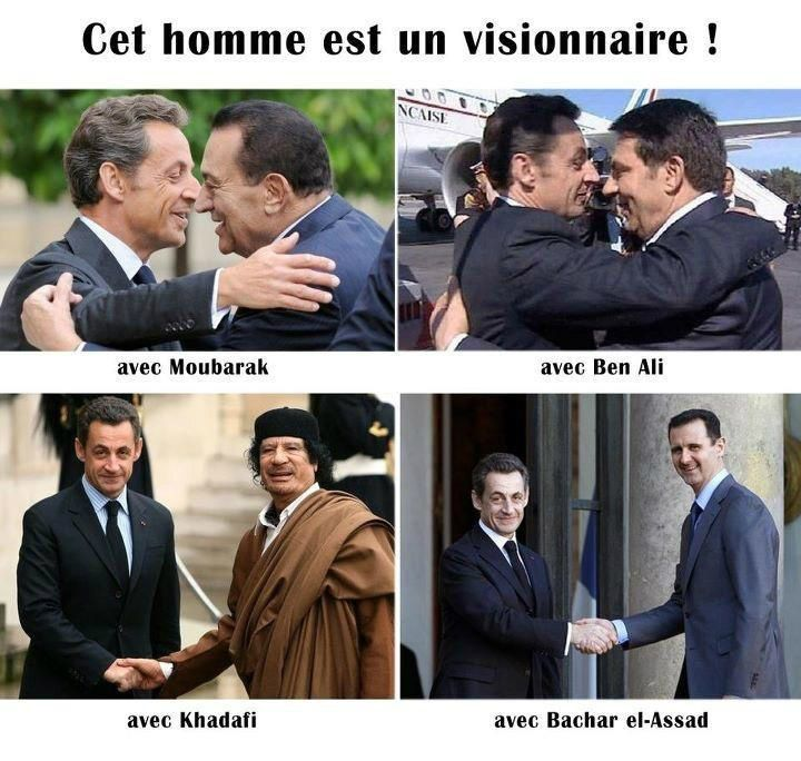 Nicolas Sarkozy et les tyrans