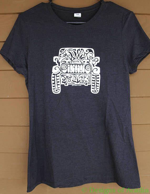 hand silk screened tri blend t shirt with original jeep tattoo artwork just - Sweatshirt Design Ideas