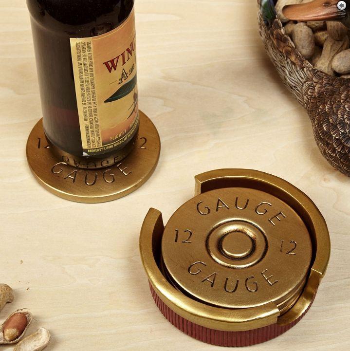 12 gauge shotgun shell drink coasters!