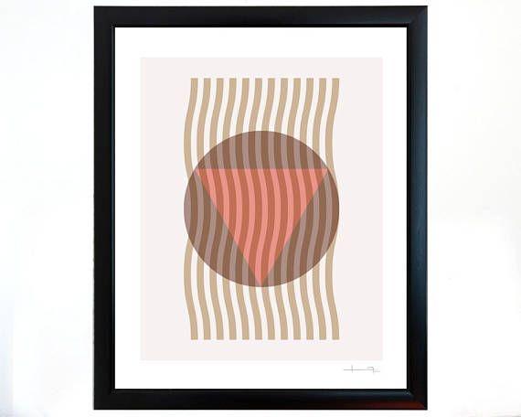 Geometría en equilibrio atractivo gráfico de sutil manejo del color. Un toque de elegancia que va bien en su estancia o habitación. Esta bella impresión se verá fabulosa con cualquier tipo de decoración.