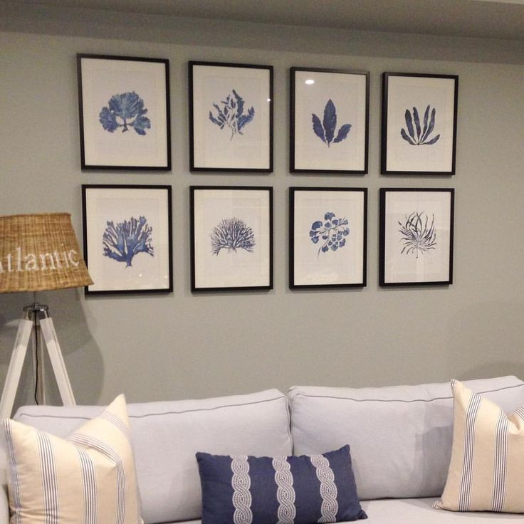 Photo gallery wall of Indigo sea ferns.