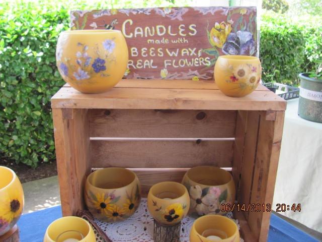 Lavender Festival Oak Ridge TN-Bees Wax Candle Display