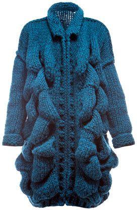 CHUNKY Knit Fashion Cardigan. Knit Cardigan for by NinElDesign