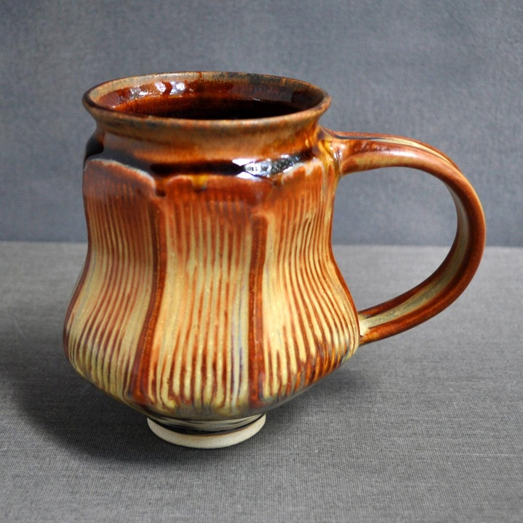 Lee Wolfe Pottery — Faceted Mug in Sunday Coffee