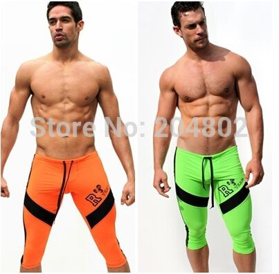 Sexy AQUX Men's Workout Tights Elastic Shorts low waist  trunks # AQ02