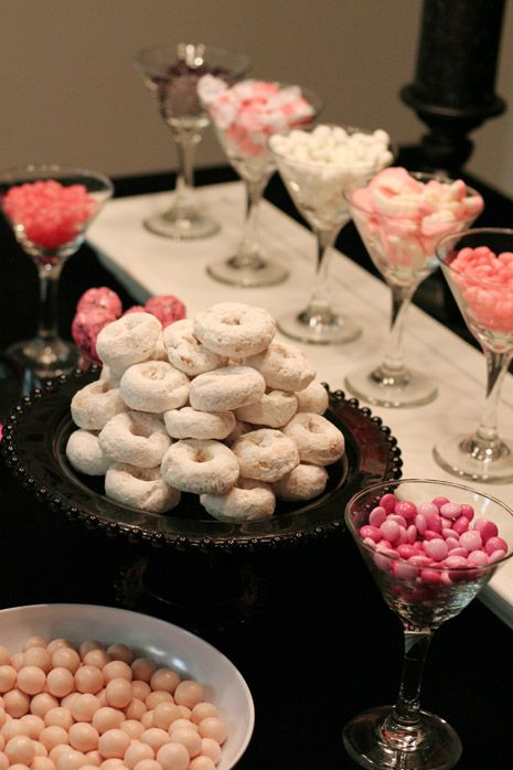 Creative ways to display food and other party ideas. Really cute stuff.