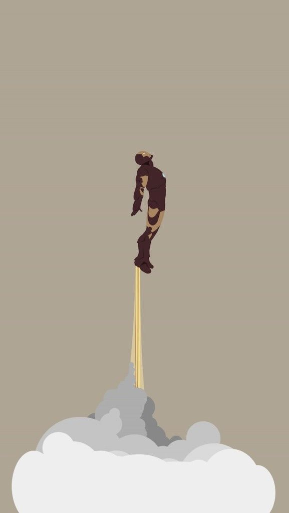Ironman flying up iPhone 5 Wallpaper (577x1024)