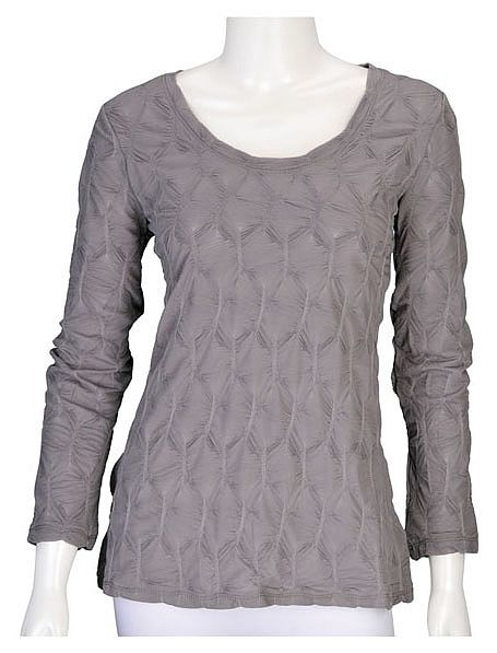 Silver Honeycomb Top ~ Best selection of Tunics & matching accessories ~ Flat postage worldwide ~ Petite to Plus sizes ~ www.ilovetunics.com