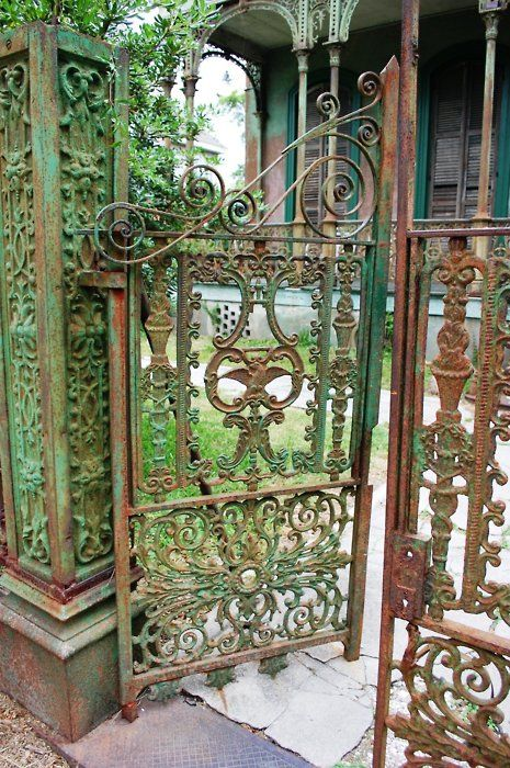 .: Doors, Fence, New Orleans, Idea, Wrought Irons Gates, Garden Gates, Gardens Gates, Old Gates, Iron Gates