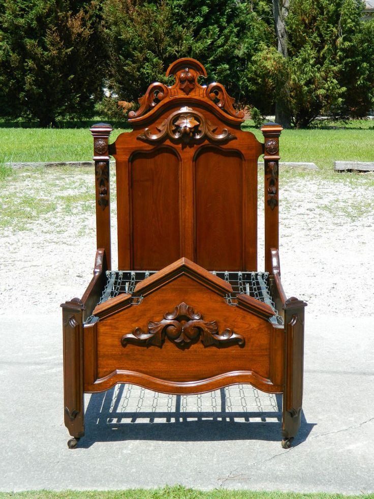 rarewalnut victorian store salesman sample childs bed with spirngs in antiques furniture beds bedroom sets - Sample Furniture