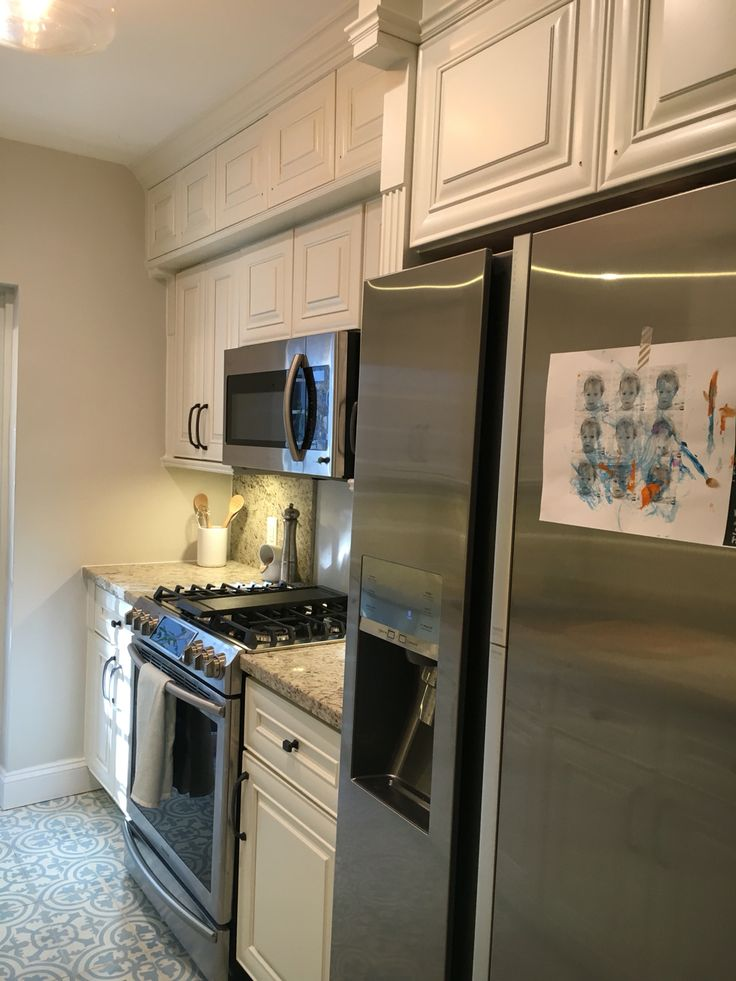 Small Galley Kitchen Gets Upgrade With Cuban Tropical Tile, New Impact  Door, Refurbished Cabinets