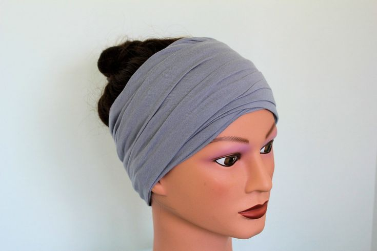 how to make a hair wrap scarf