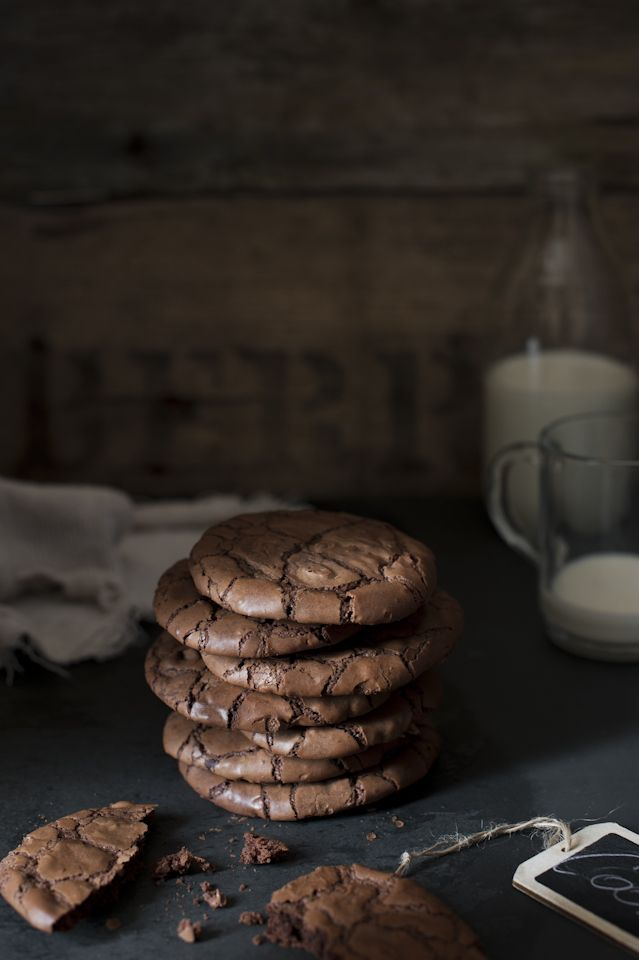 Double dark chocolate cookies #foodphotography