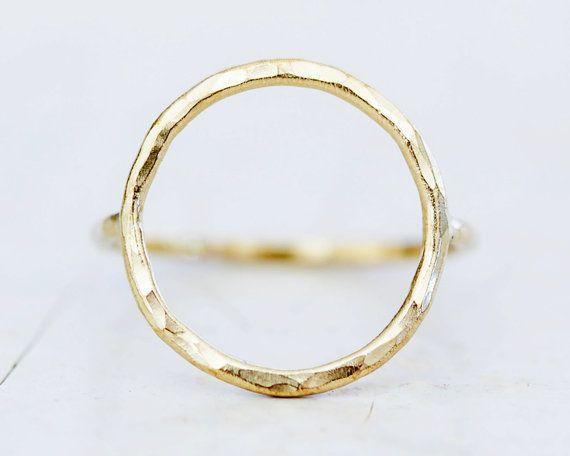 Gold Simple Circle Ring