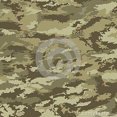 Camouflage background - vector illustration. Abstract pattern khaki