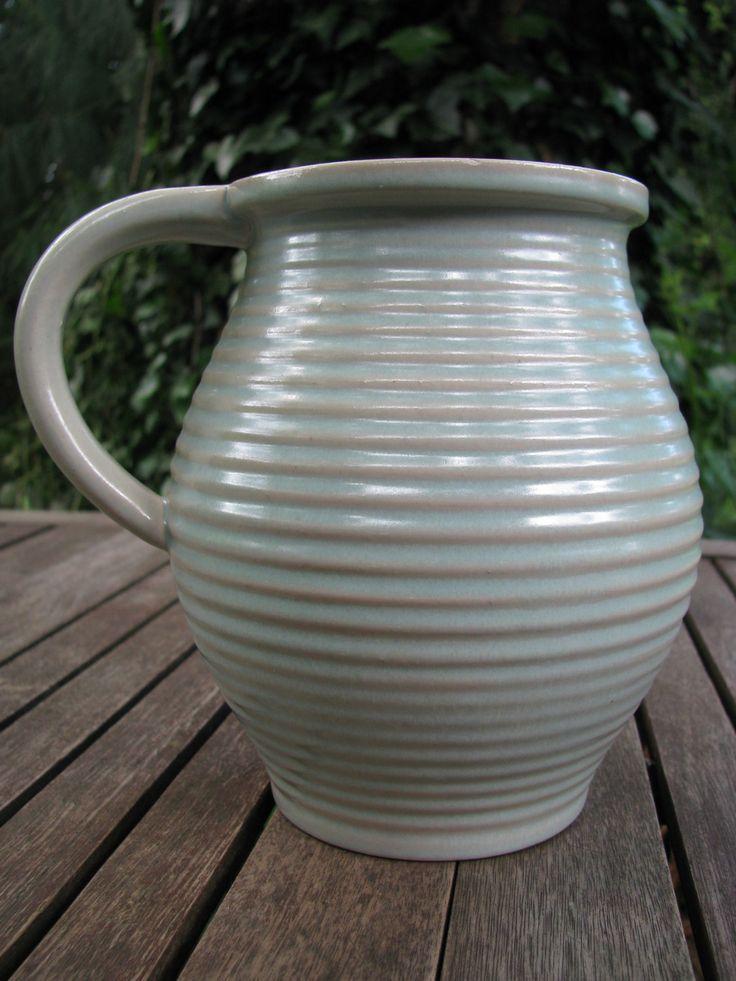 Vintage Karlsruher Majolika Vase – Jar – ca. 1950 – Mid Century – No. 5359 – Martha Katzer – Bauhaus Style von everglaze auf Etsy