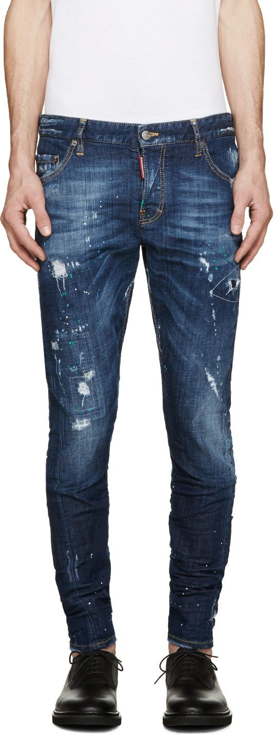 Dsquared2 - Blue Bocca Chicca Sexy Twist Jeans