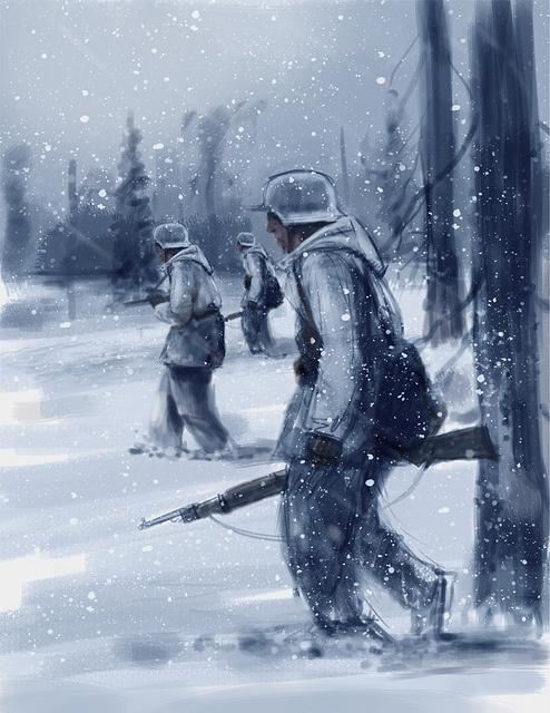 Finnish winter warriors 1939 by Leif Söderman