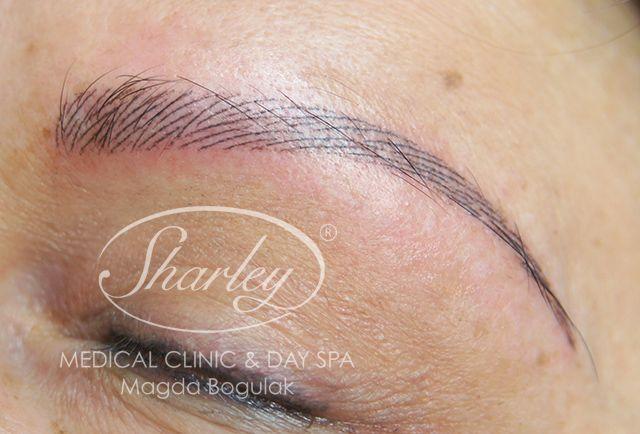 Makijaż permanentny brwi metodą włoskową. Więcej wiadomości: http://sharley.pl/oferta/makijaz-permanentny/makijaz-permanentny-brwi/