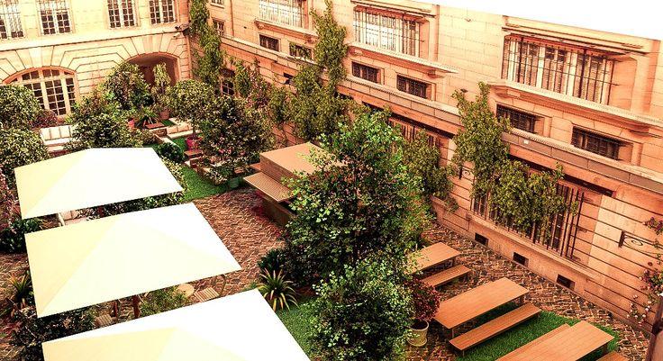 jusqu'a 25 septembre - le Crédit Municipal de Paris ouvre les portes de son nouveau bar éphémère : le Jardin Municipal, bulle végétale en plein cœur de Paris