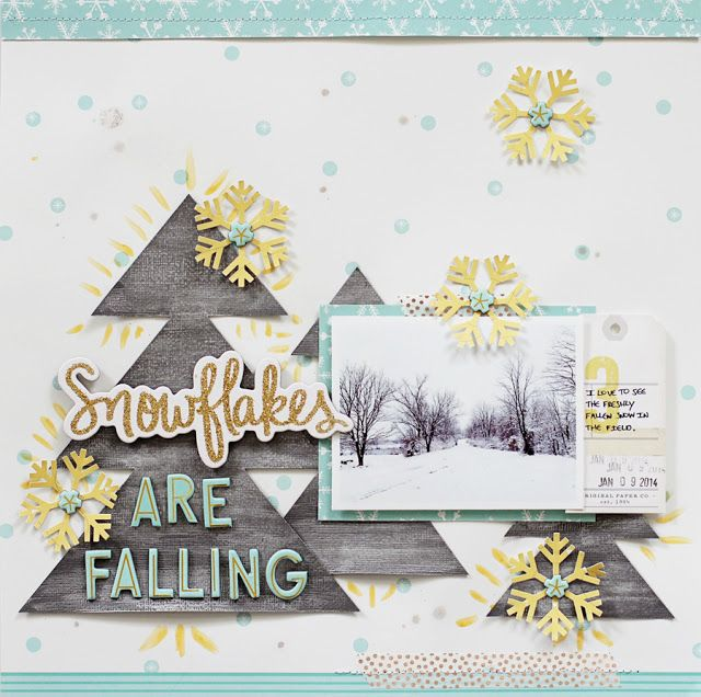 Paper Fab: Snowflakes Are Falling *Shimmerz Paints*