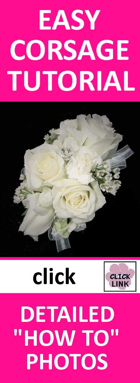 FREE TUTORIALS!  http://www.wedding-flowers-and-reception-ideas.com/make-your-own-wedding.html  Learn how to make a bridal bouquet, corsage and boutonniere, reception centerpieces and large church flowers!  Buy professional florist supplies and discount flowers.