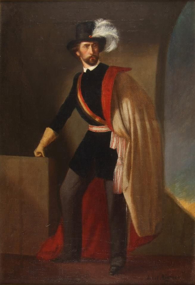 Ulánus tiszt ( Ulan officer -- private collection ) oil on canvas