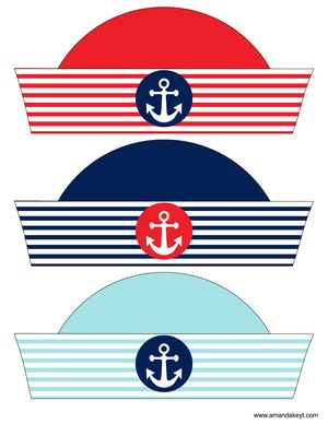 Instant Download Nautical Red Printable Photo Booth Prop Set More