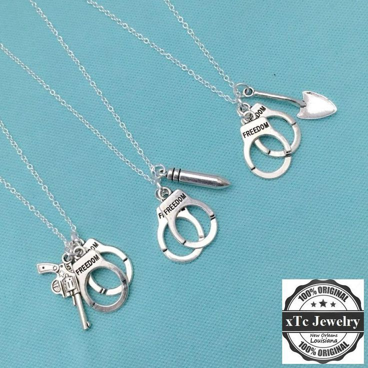 """3 """" Partners in Crimes"""" Silver Necklaces."""