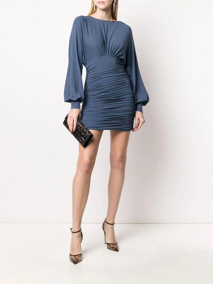 alexandre vauthier ruched mini dress farfetch mini dress