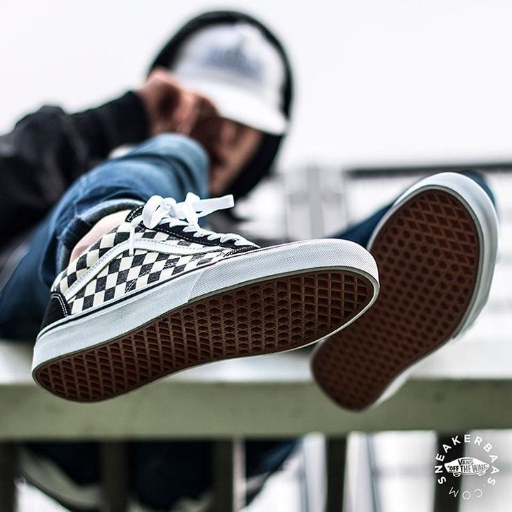 checkerboard vans era on feet