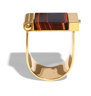 Leave it to Céline to create this mixed-metal, standout piece. Meant to be worn on the side of your wrist, it feels like slipping into a cuff with superpowers. We've always known the Céline girl was a step ahead of the rest of the pack, anyway.