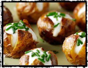 Bite Sized Jacket Potatoes