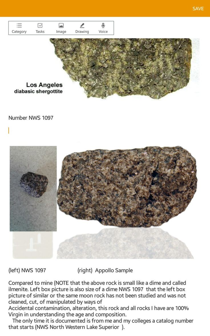 NWS 1097 in bottom left box  NASA Lunar ilmenite shergottite in the main screen box