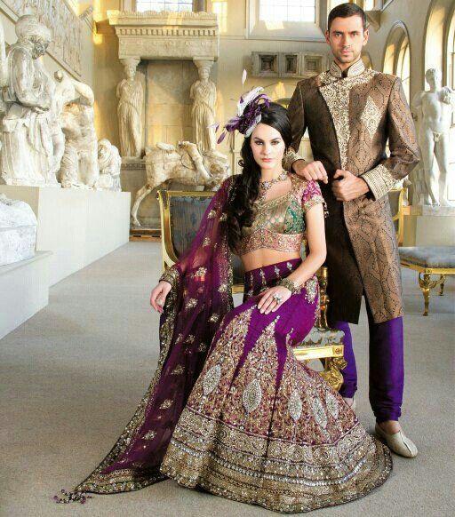 Purple Indian bridal wear.
