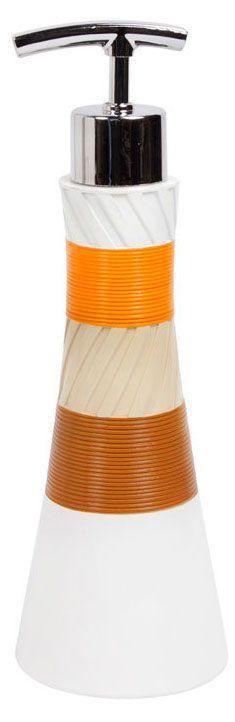 Дозатор для жидкого мыла Mirabel, полимер, Мультиколор, 7.5 х 7.5 х 23 см