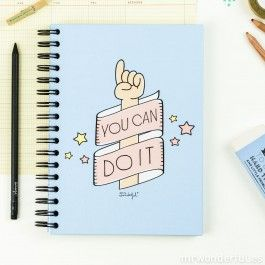 """Libreta de color """"You can do it"""" (ENG)"""