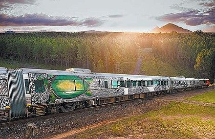 Indigenous art turns QRail_Tilt_Train into moving canvas | Architecture And Design