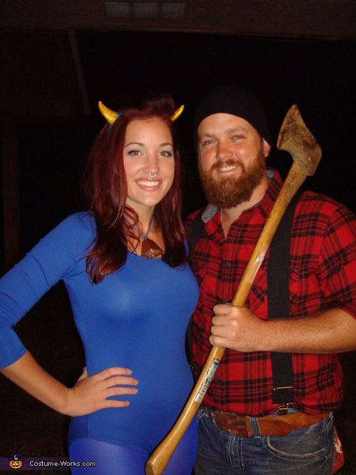 Paul Bunyan and Babe the Blue Ox - Halloween Costume Contest via @costumeworks