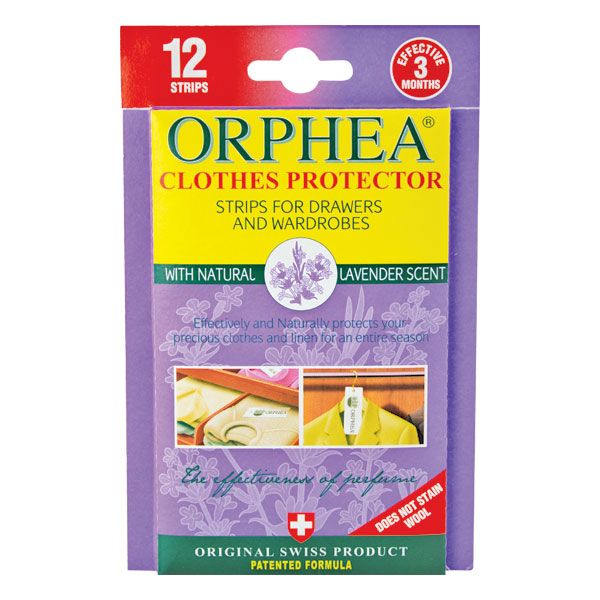 Orphea Clothes Protector strips are the natural and safer way to protect your clothes. Try this sweet and unobtrusive Lavender Maillette variety today!