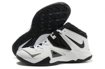 Shop Half off Nike Zoom Lebron Soldier 7 Sample Simple White Black Metallic  Silver 599264 003 Cheap Lebron Shoes