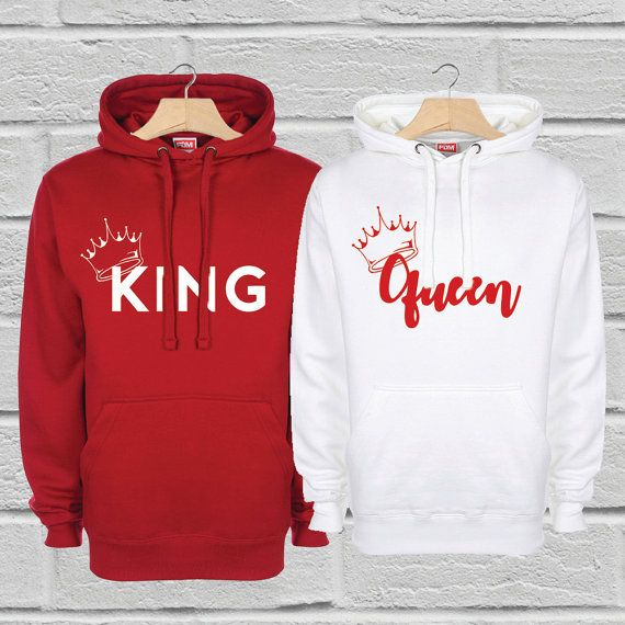 King and Queen Hoodies Couples Hoodies Mr and Mrs by byRhonnie