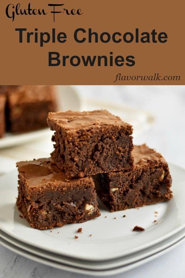 Gluten Free Triple Chocolate Chip Brownies Recipe Chocolate